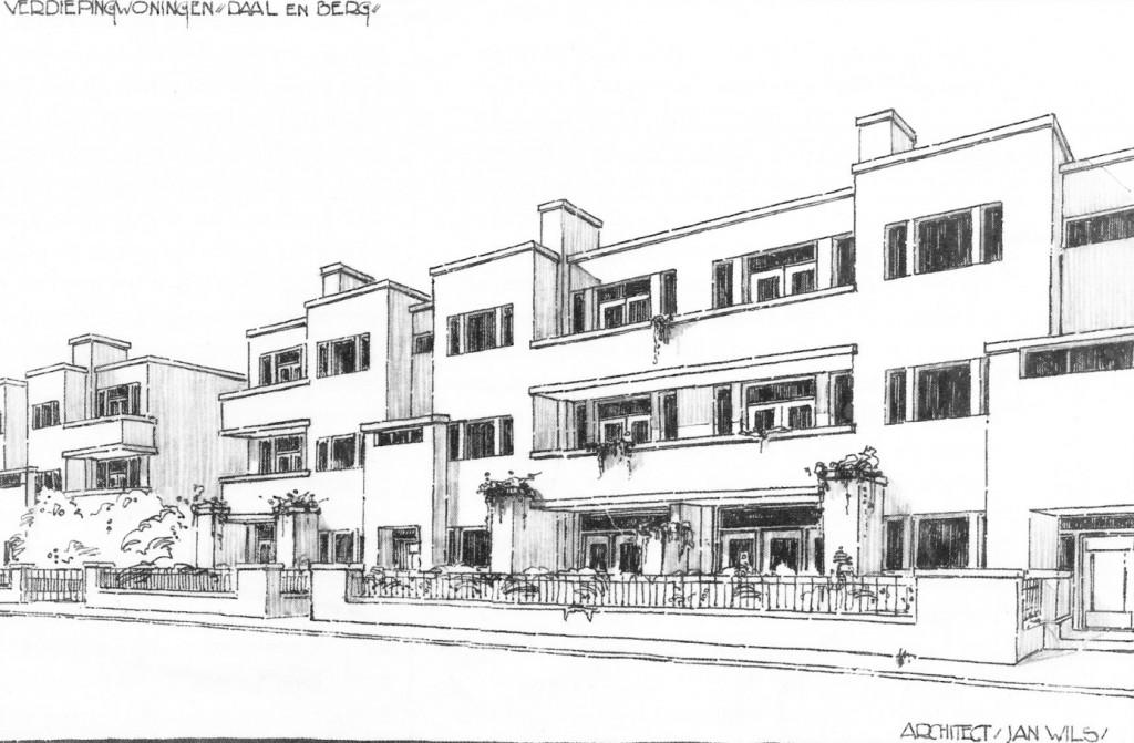 Eerste ontwerp van Jan Wils.