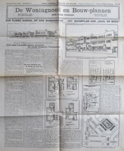 Een flinke aanval op den woningnood Vaderland  6-3-1920