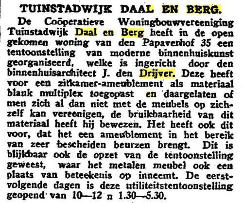 Drijver-recensie tentoonstelling Daal en Berg- Het vaderland, 08-10-1933 - kopie